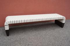 Matteo Grassi Woven Leather Brera Bench by Guglielmo Ulrich for Matteo Grassi - 2013134