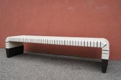 Matteo Grassi Woven Leather Brera Bench by Guglielmo Ulrich for Matteo Grassi - 2013135