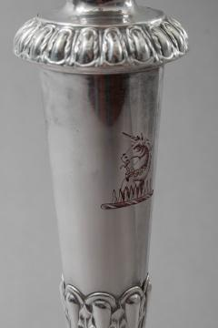 Matthew Boulton Sheffield Plate 4 Light Candelabrum with Cut Glass Dish - 61268