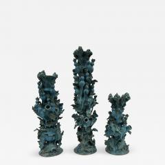 Matthew Solomon Set of 3 Tulipiere Thistle Candlesticks by Matthew Solomon - 639864