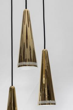 Mauri Almari 1950s Mauri Almari K2 48 Brass Chandelier for Idman - 1105014