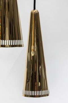 Mauri Almari 1950s Mauri Almari K2 48 Brass Chandelier for Idman - 1105016