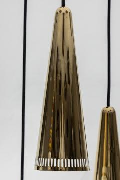 Mauri Almari 1950s Mauri Almari K2 48 Brass Chandelier for Idman - 1105018