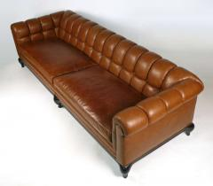 Maurice Bailey Biscuit Tufted Leather Sofa by Maurice Bailey for Monteverdi Young - 171432