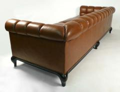 Maurice Bailey Biscuit Tufted Leather Sofa by Maurice Bailey for Monteverdi Young - 171433