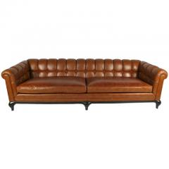 Maurice Bailey Biscuit Tufted Leather Sofa by Maurice Bailey for Monteverdi Young - 171434