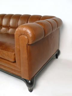 Maurice Bailey Biscuit Tufted Leather Sofa by Maurice Bailey for Monteverdi Young - 171436