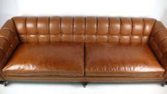 Maurice Bailey Biscuit Tufted Leather Sofa by Maurice Bailey for Monteverdi Young - 171438