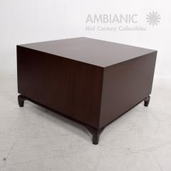 Maurice Bailey Midcentury Modern Monteverdi Young Carved Mahogany Cabinets Side Tables a Pair - 1543726
