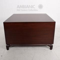 Maurice Bailey Midcentury Modern Monteverdi Young Carved Mahogany Cabinets Side Tables a Pair - 1543727
