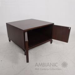 Maurice Bailey Midcentury Modern Monteverdi Young Carved Mahogany Cabinets Side Tables a Pair - 1543730