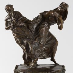 Maurice Dufr ne French Art Nouveau Gilt Bronze Clock by Dufr ne - 1304230