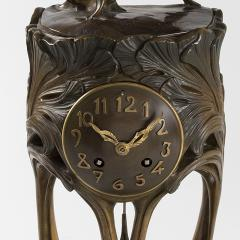Maurice Dufr ne French Art Nouveau Gilt Bronze Clock by Dufr ne - 1304232