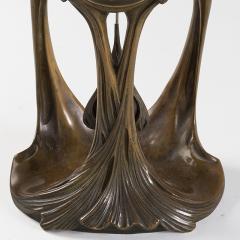 Maurice Dufr ne French Art Nouveau Gilt Bronze Clock by Dufr ne - 1304233