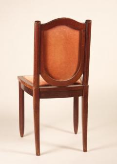 Maurice Dufr ne Maurice Dufrene Set of 6 Dining Chairs in Purple Heart - 1549653