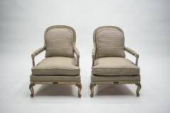Maurice Hirsch Rare neoclassical set of 4 armchairs signed By Maurice Hirsch 1970s - 994487