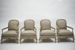 Maurice Hirsch Rare neoclassical set of 4 armchairs signed By Maurice Hirsch 1970s - 994490