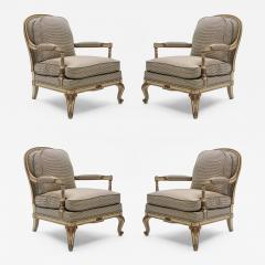 Maurice Hirsch Rare neoclassical set of 4 armchairs signed By Maurice Hirsch 1970s - 997436