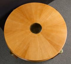 Maurice Jallot Ash radial veneer art deco coffee table by Maurice Jallot - 901390