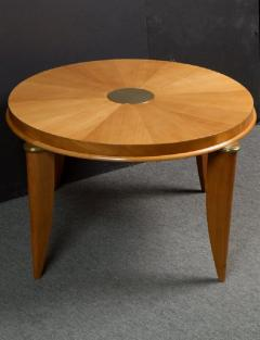 Maurice Jallot Ash radial veneer art deco coffee table by Maurice Jallot - 901394