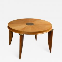 Maurice Jallot Ash radial veneer art deco coffee table by Maurice Jallot - 901767