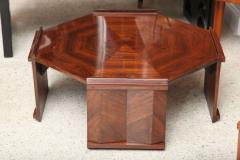 Maurice Jallot Fine Rosewood Late Art Deco Low Table France Maurice Jallot - 420398