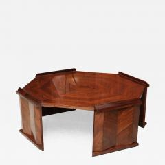 Maurice Jallot Fine Rosewood Late Art Deco Low Table France Maurice Jallot - 425647