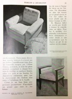 Maurice Jallot Leon Maurice Jallot Pair of Club Chairs - 1600701