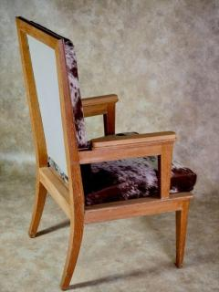 Maurice Jallot Maurice Jallot Pair of Oak Armchairs with Pony Hide - 1570175
