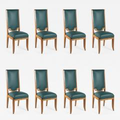 Maurice Jallot Maurice Jallot Set of Eight Dining Chairs - 1580198