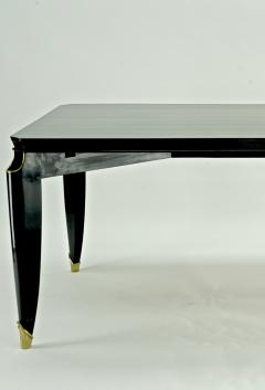 Maurice Jallot Maurice Jallot blackened wood dinning table with gold bronze accent - 1526506