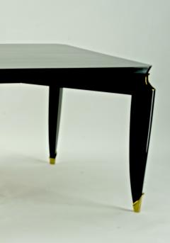 Maurice Jallot Maurice Jallot blackened wood dinning table with gold bronze accent - 1526534