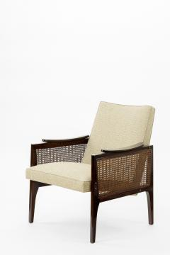 Maurice Jallot Maurice Jallot pair of refined caned arm chair - 825112