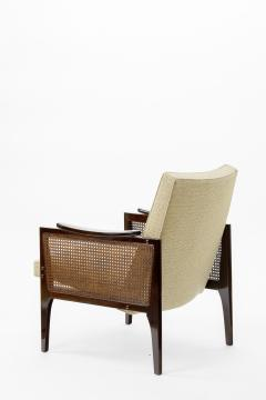 Maurice Jallot Maurice Jallot pair of refined caned arm chair - 825113