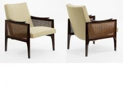 Maurice Jallot Maurice Jallot pair of refined caned arm chair - 825117