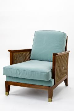 Maurice Jallot Maurice Jallot refined caned arm chair - 832535