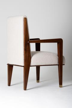 Maurice Jallot Modernist Mahogany Armchair by Maurice Jallot - 1451426