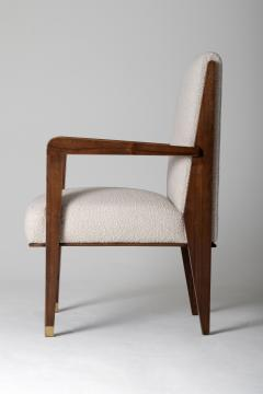 Maurice Jallot Modernist Mahogany Armchair by Maurice Jallot - 1451427