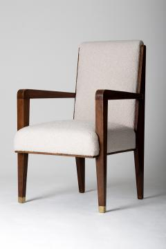 Maurice Jallot Modernist Mahogany Armchair by Maurice Jallot - 1451428