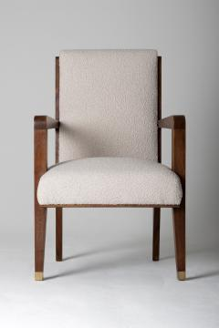Maurice Jallot Modernist Mahogany Armchair by Maurice Jallot - 1451429