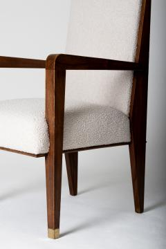 Maurice Jallot Modernist Mahogany Armchair by Maurice Jallot - 1451431