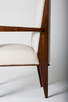 Maurice Jallot Modernist Mahogany Armchair by Maurice Jallot - 1451432