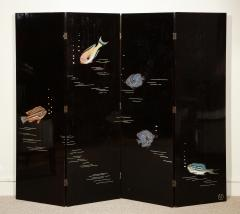Maurice Jallot Poissons Lacquer Screen by Jallot - 869228