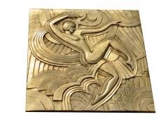 Maurice Picaud Art Deco Folies Bergeres Wall Plaque - 941494