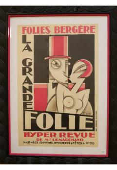 Maurice Picaud Lithographic Poster Folies Berg re - 910875