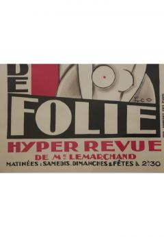 Maurice Picaud Lithographic Poster Folies Berg re - 910877