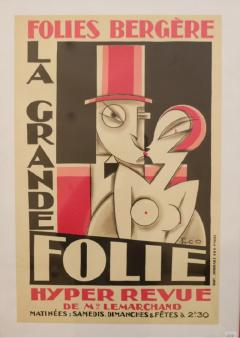 Maurice Picaud Lithographic Poster Folies Berg re - 911080