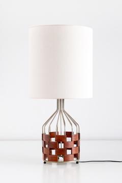 Maurizio Tempestini Large Maurizio Tempestini Rosewood Table Lamp for Casey Fantin Florence 1961 - 1275769