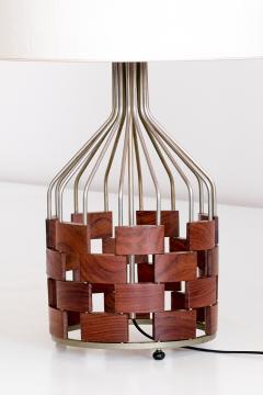 Maurizio Tempestini Large Maurizio Tempestini Rosewood Table Lamp for Casey Fantin Florence 1961 - 1275772