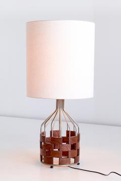 Maurizio Tempestini Large Maurizio Tempestini Rosewood Table Lamp for Casey Fantin Florence 1961 - 1275773
